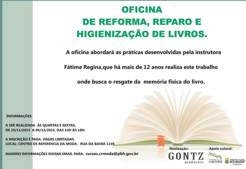 Oficina de Reforma, Reparo e Higienização de Livros