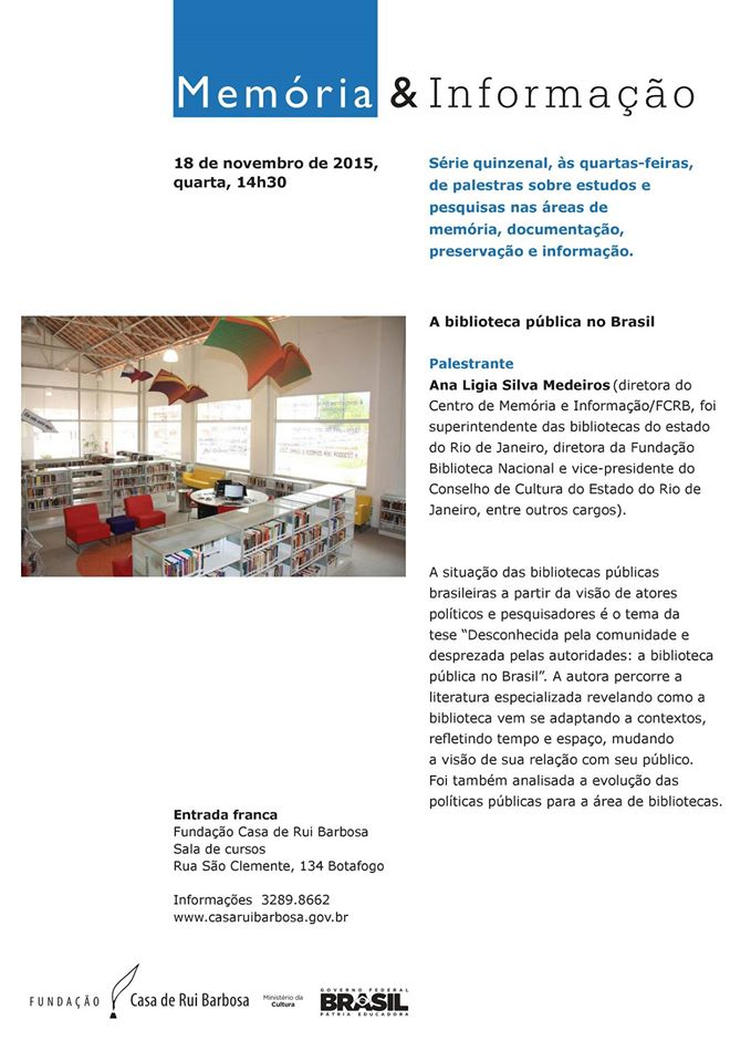 Palestra A biblioteca pública no Brasil