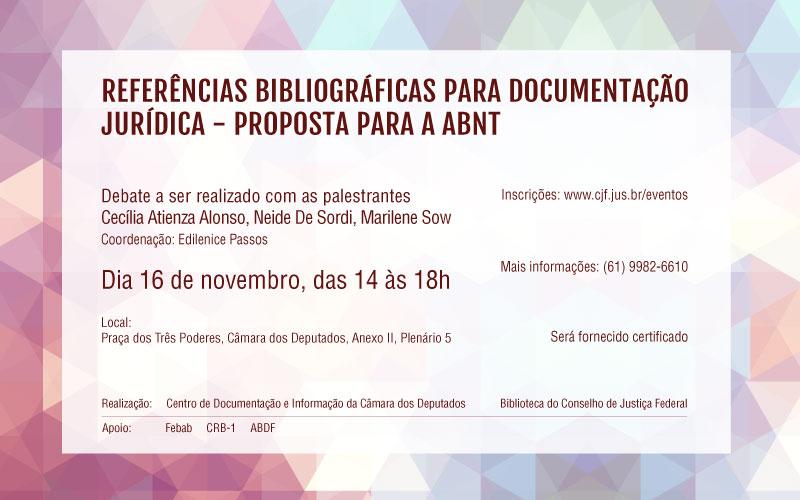 Referências bibliográficas para documentação jurídica -  proposta para a ABNT