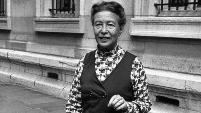 Escritora francesa Simone de Beauvoir é um símbolo do feminismo (Fonte: AFP)