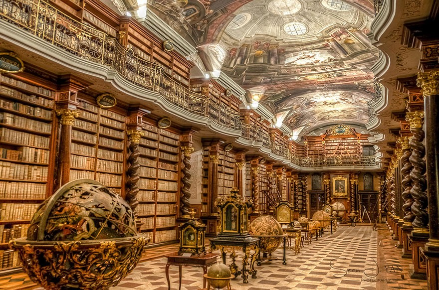 O Clementinum fica em Praga, República Tcheca (Foto: Reprodução/ Sean Yah)