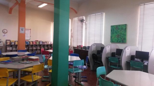 Biblioteca Pe. Gailhac, do colégio Sagrado Coração de Maria (Foto: Divulgação)