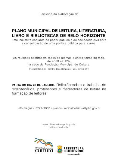 Plano Municipal do Livro, Leitura, Literatura e Bibliotecas de Belo Horizonte
