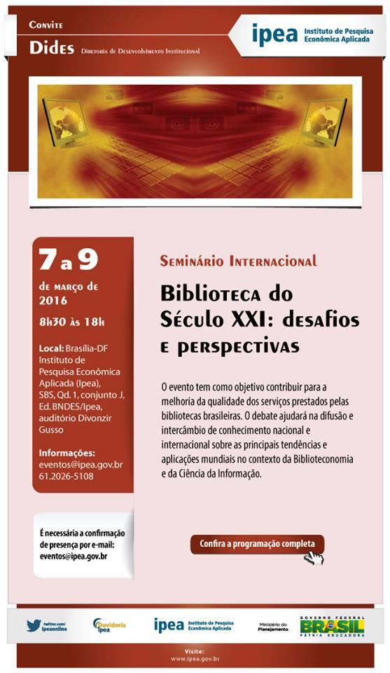 Seminário Internacional Biblioteca do Século XXI