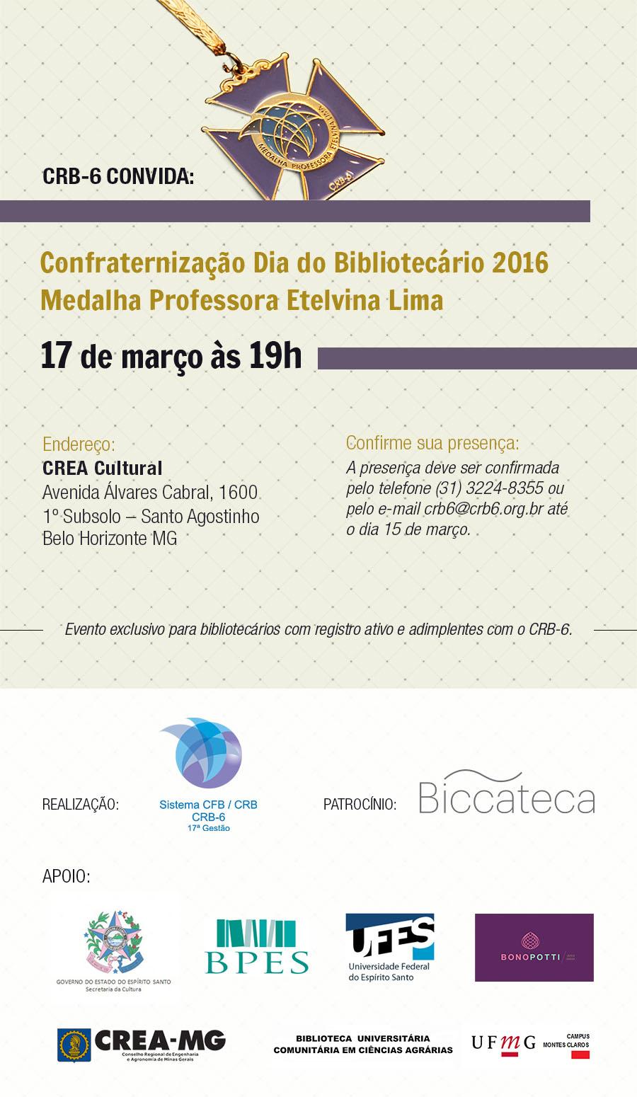 Dia do Bibliotecário 2016 Belo Horizonte