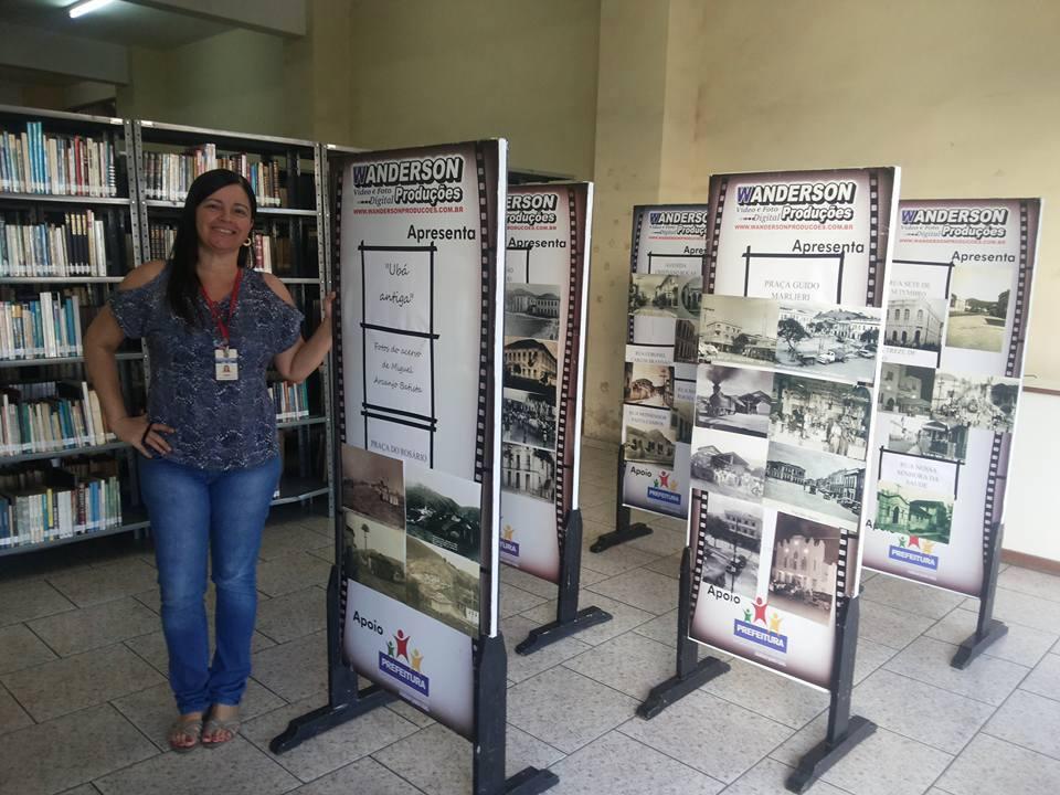 Biblioteca organiza exposição com os biombos doados pelo fotógrafo da cidade (Foto: Divulgação)