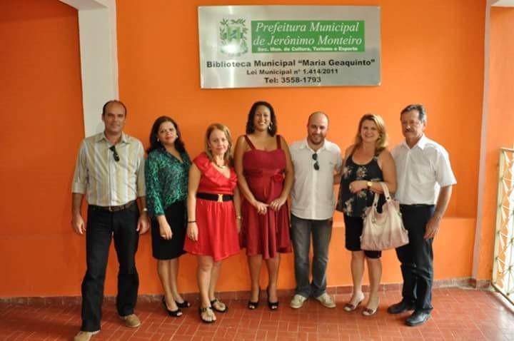 Inauguração da Biblioteca Municipal Maria Geaquinto, em 2012 (Foto: Divulgação)