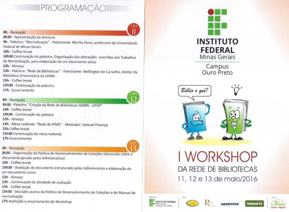 I Workshop da Rede de Bibliotecas UFOP