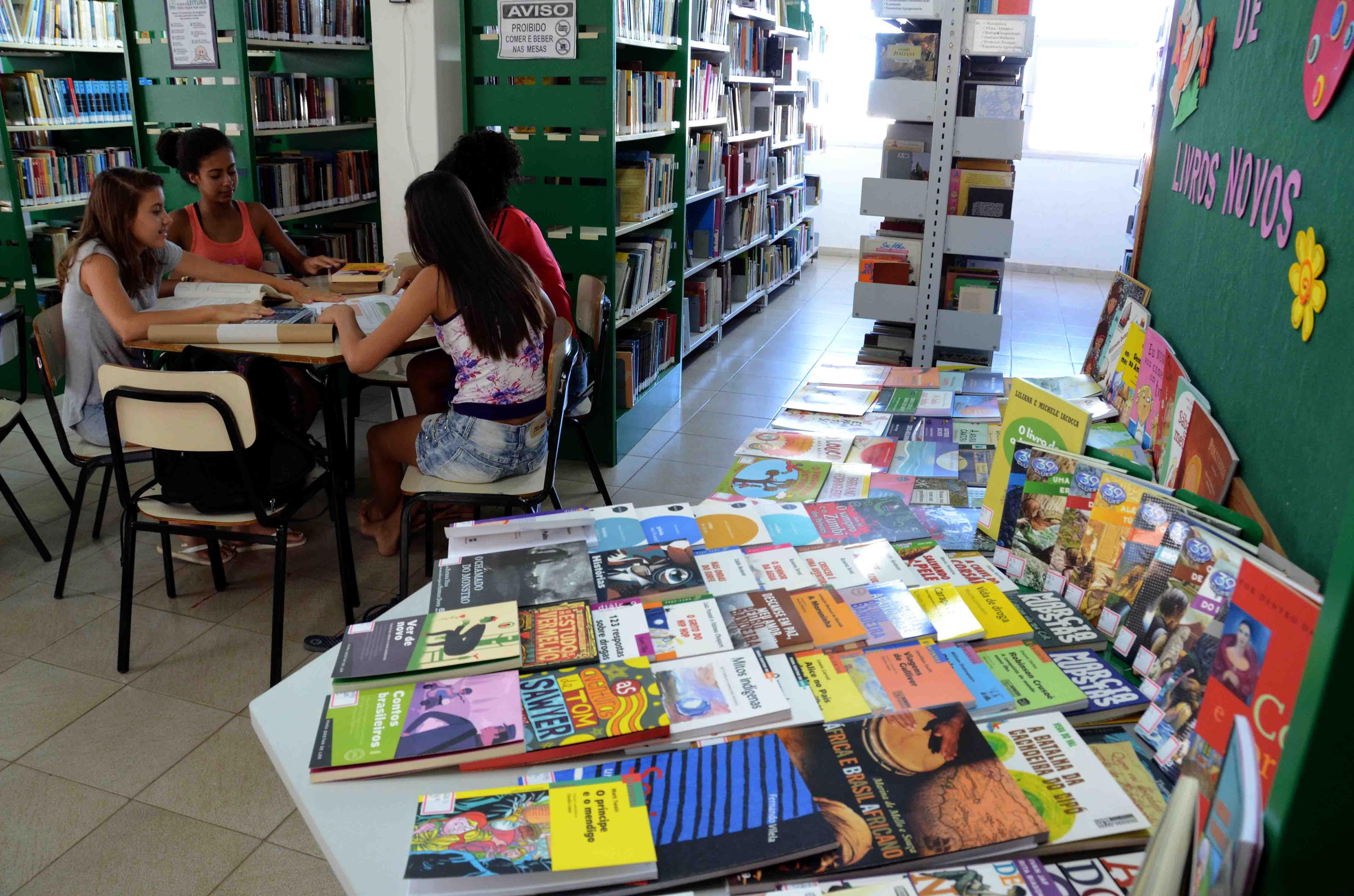 Biblioteca promove atividades de incentivo à cultura (Foto: Divulgação)