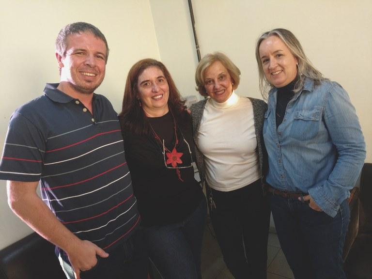 Professores integrantes do GEBE: Eduardo Valadares, Adriana Bogliolo, Bernadete Campello e Marília Paiva. (Foto: Divulgação/UFMG)