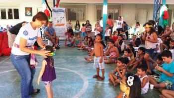 Diversão está garantida para os pequenos durante as atividades do Viagem pela Literatura (Foto: Divulgação Semc)