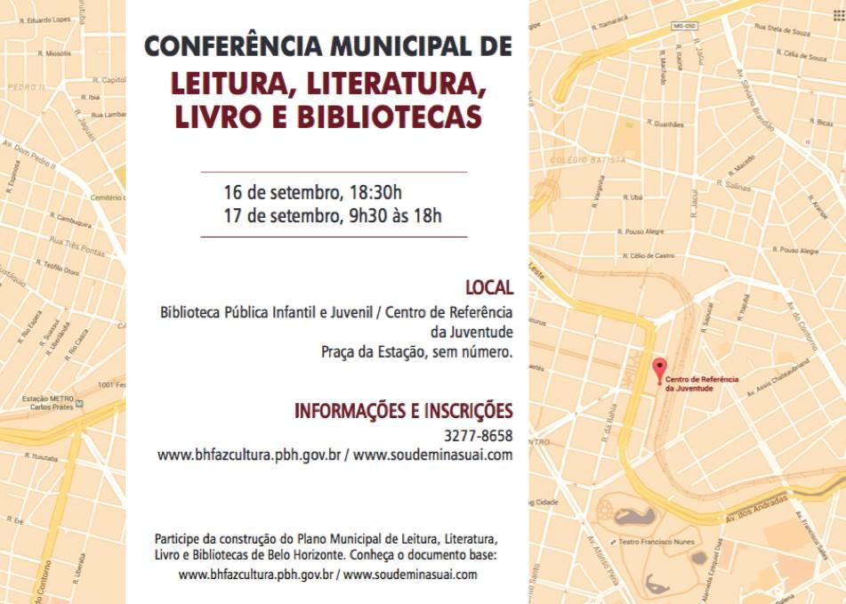 CONFER+èNCIA MUNICIPAL DE LEITURA, LITERATURA, LIVRO E BIBLIOTECAS