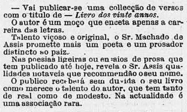 'Correio Mercantil', 19 de janeiro de 1860 (Foto: Reprodução)