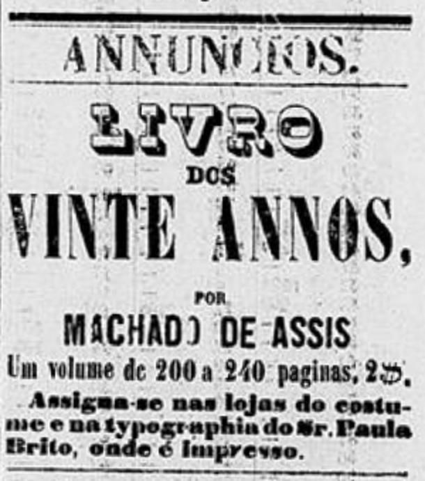 'Correio da Tarde', 20 de fevereiro de 1860 (Foto: Reprodução)