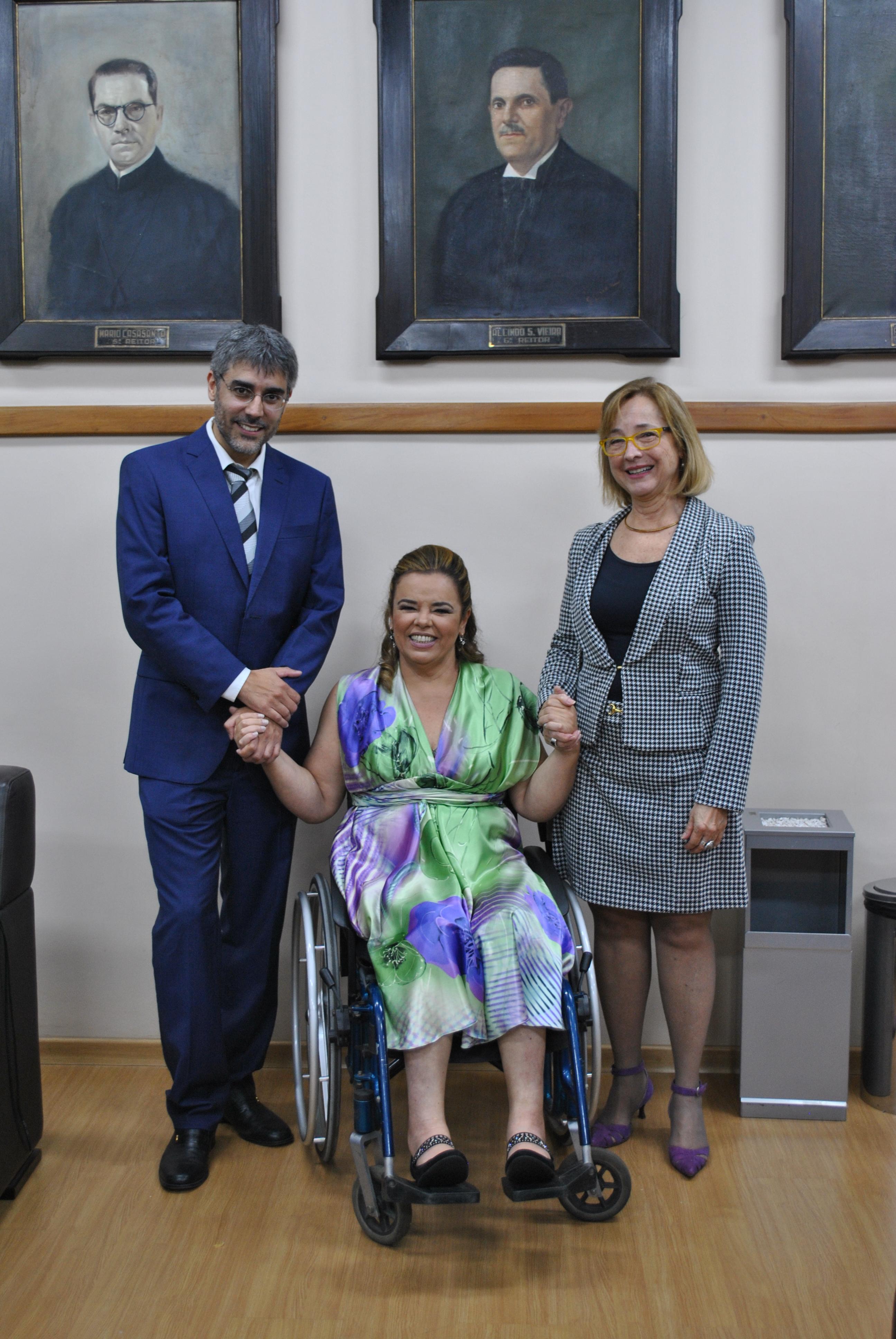 Carlos Alberto Ávila, Cláudia Barros e Lígia Maria Dumont (Foto: Maíra Bueno)