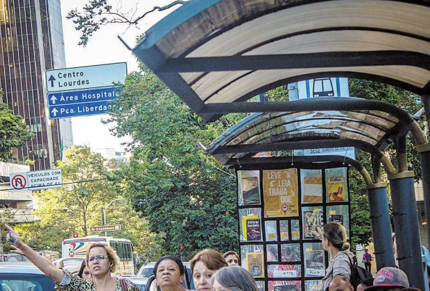 Acesso. Projeto Ponto de Ônibus ganha versão para celulares e lança aplicativo para troca de livros (Foto: Divulgação)