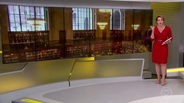 Biblioteca pública de NY (Foto: Reprodução/TV Globo)