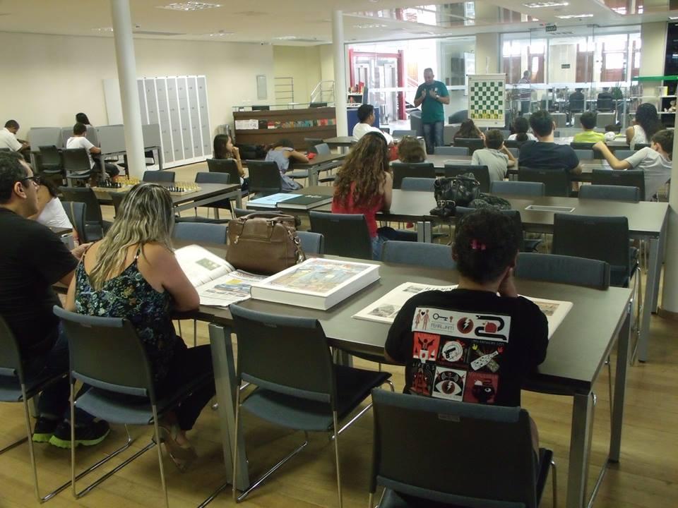 Biblioteca do Centro Cultural Sesc Glória (Foto:  SESC/ES)