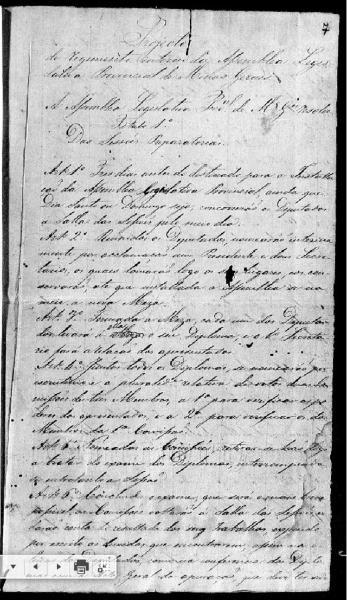 Registros contam a história da Assembleia Legislativa Provincial, instalada em 1835 (Foto: Reprodução/ALMG)
