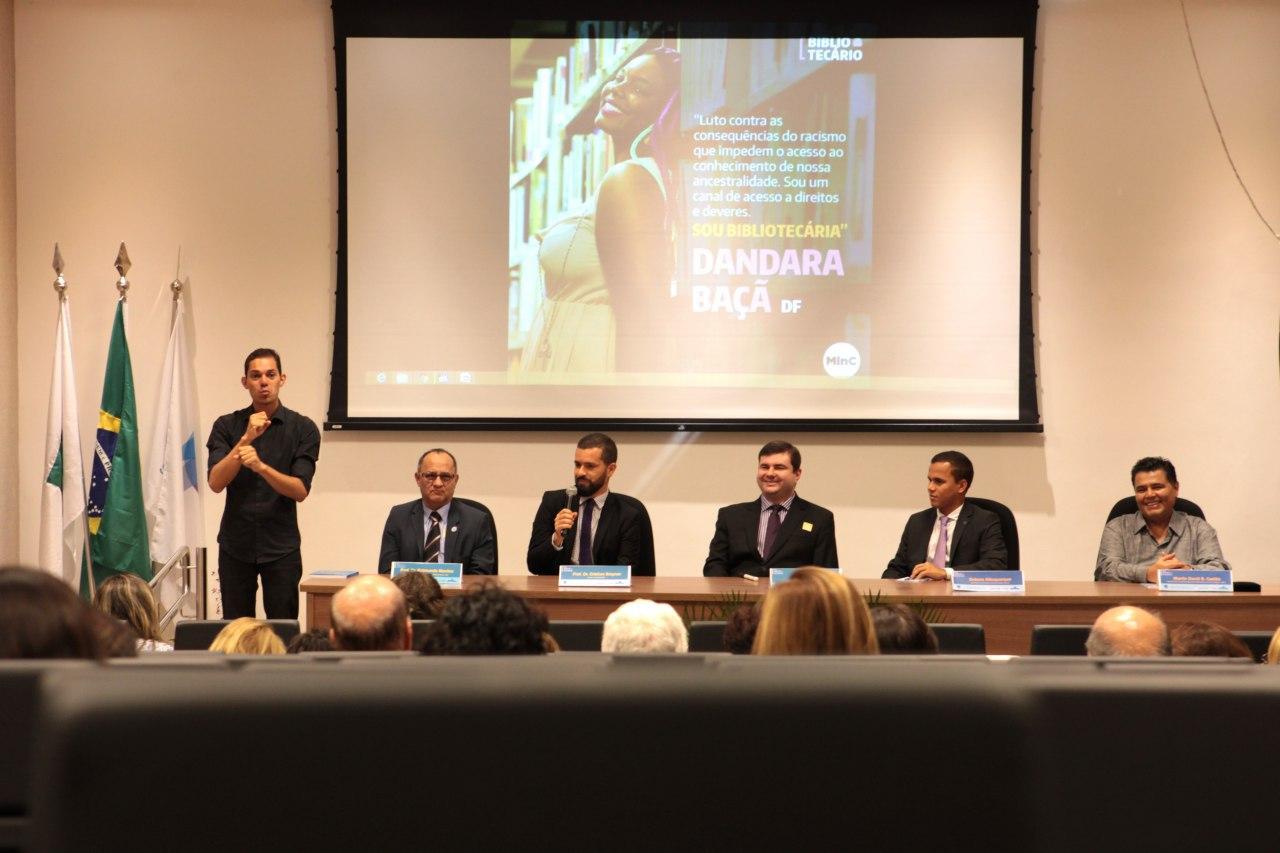 Inclusão social foi destaque em comemoração no auditório do Edifício Sede (Foto: Edson Leal/Ascom MinC)