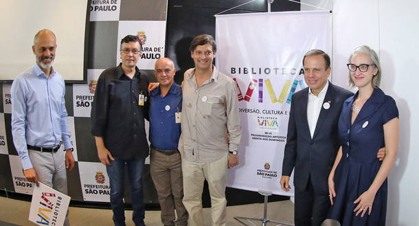 'Vamos ter livros mais novos e a um preço menor', diz o prefeito João Doria, que pretende pedir doações a empresas (Foto: Fábio Arantes/Secom/Prefeitura de São Paulo)