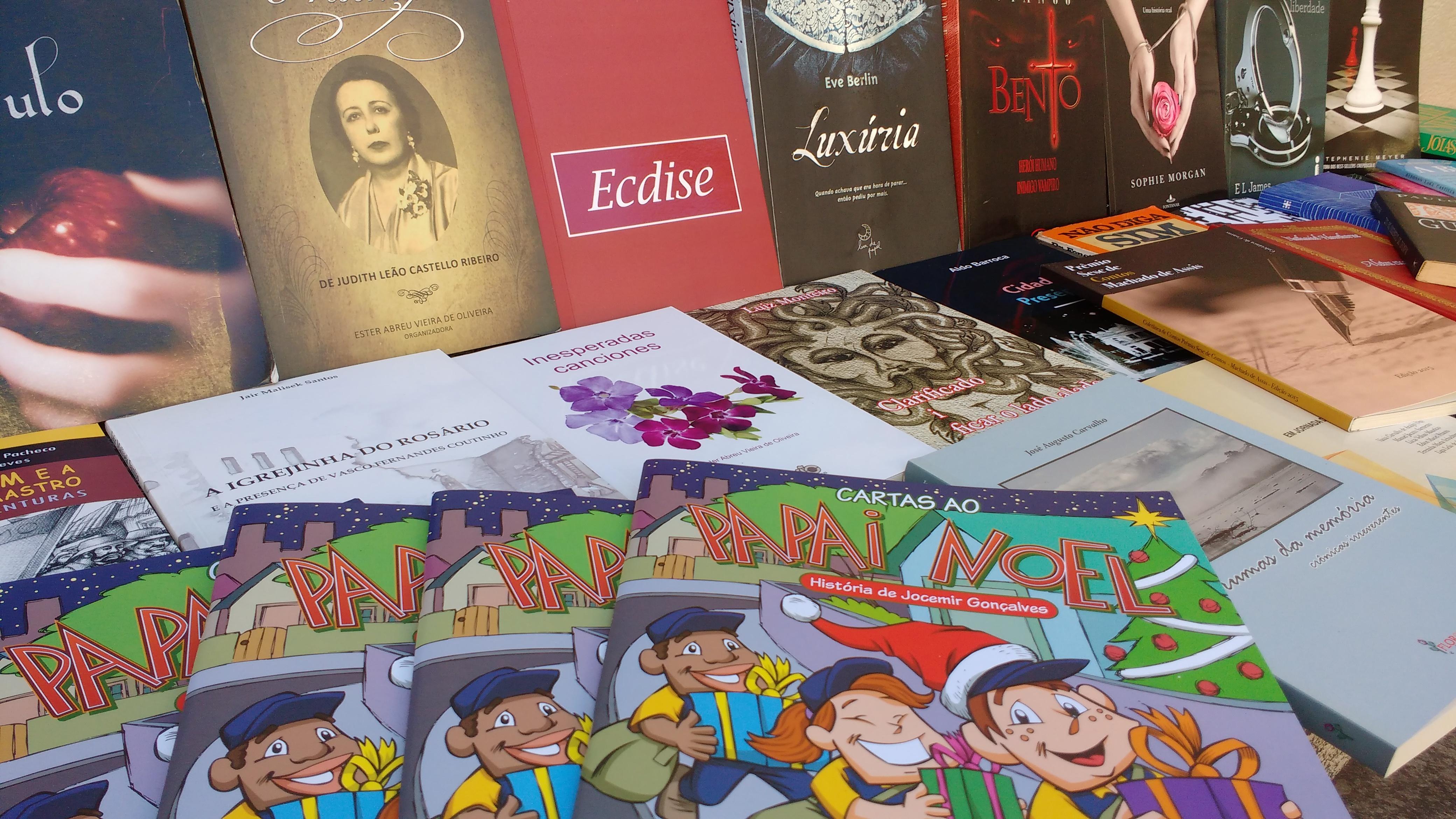 No Centro Cultural Sesc Glória também teve troca de livros (Foto: David Rocha)