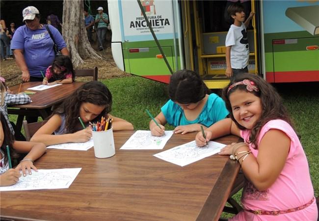 Biblioteca Municipal de Anchieta. O evento acontecerá na área ao lado da biblioteca (Foto: Reprodução)