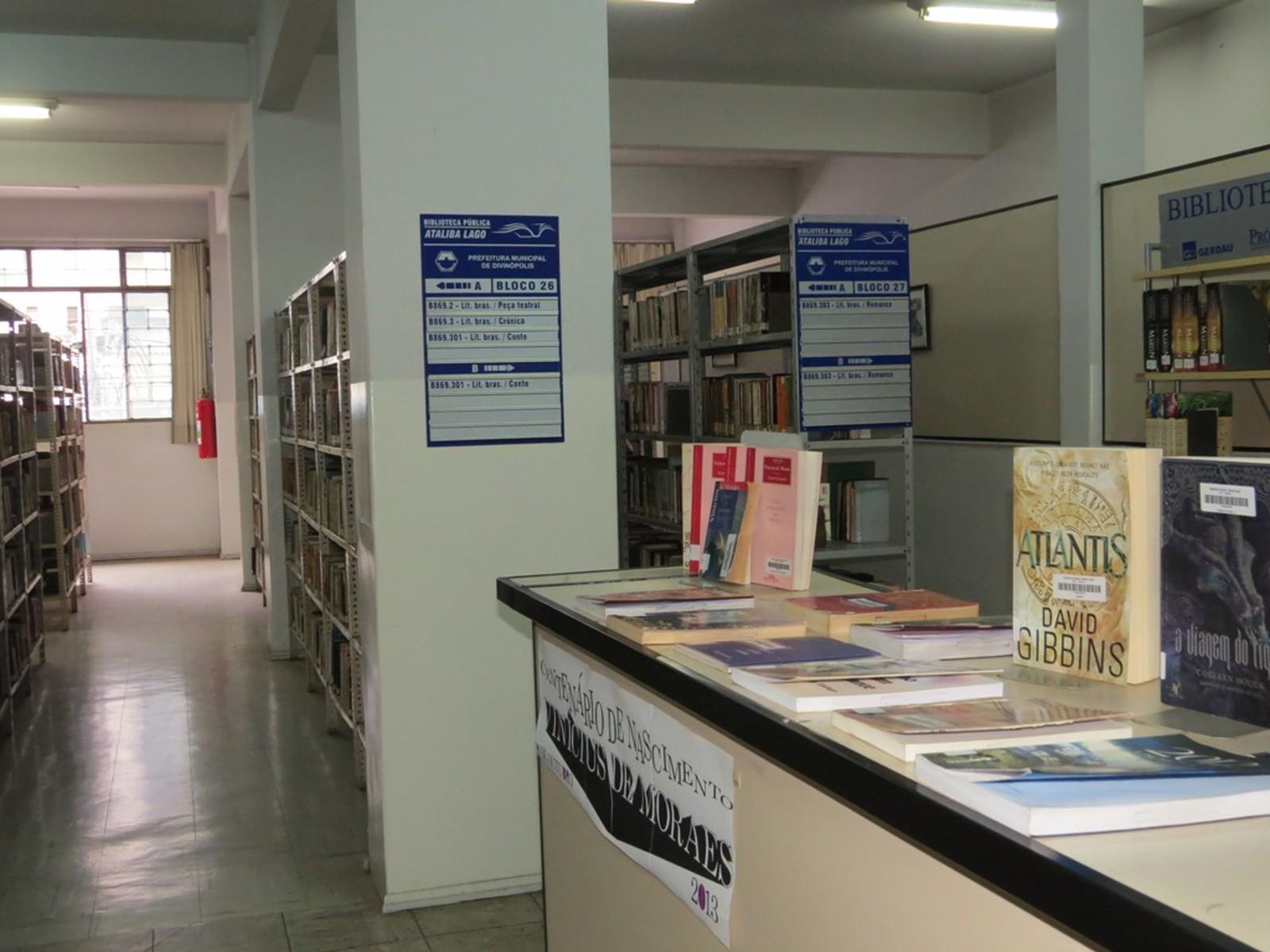 Biblioteca Municipal Ataliba Lago ficará fechada em julho para inventário (Foto: Divulgação/Prefeitura de Divinópolis)