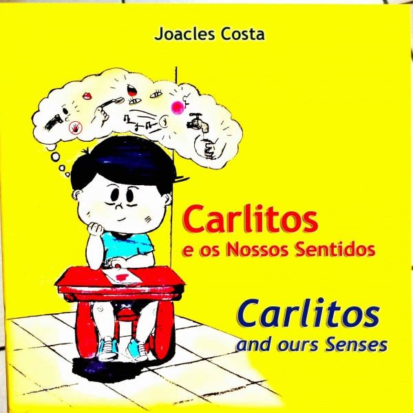 """Joacles Costa Bento é autor de quatro livros, como """"Carlitos e os Nossos Sentidos"""" (Foto: Prefeitura de Vitória)"""