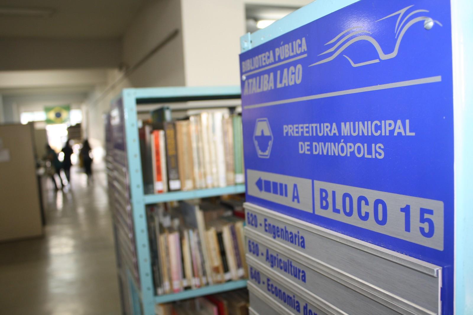 Biblioteca Municipal de Divinópolis será fechada para investário durante todo o mês de julho (Foto: Prefeitura de Divinópolis)