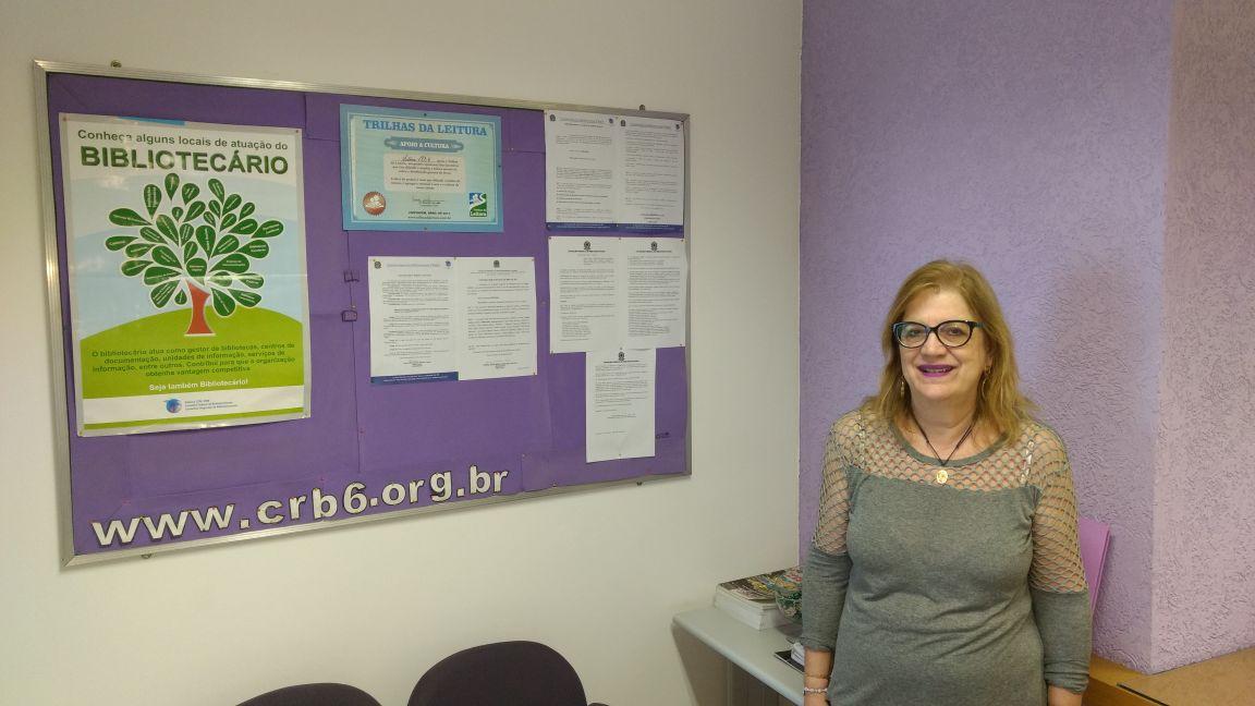 Orfila Mudado, bibliotecária fiscal do CRB-6, fiscalizou diversas cidades no interior de Minas