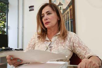 Superintendente Regional de Ensino de Uberaba, Marilda Ribeiro Resende, fala sobre os objetivos do 1º Encontro das Bibliotecárias Maria Iraídes Tosta Madeira (Foto: Enerson Cleiton)