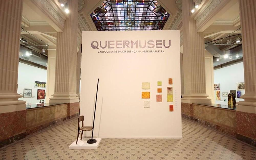 Exposição Queermuseu contava com 90 obras, de 270 artistas nacionais, abriu em 15 de agosto e iria até 8 de outubro (Foto: Marcelo Liotti Junio/Divulgação)