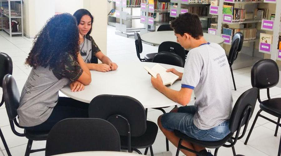 Promoção e incentivo à leitura nas bibliotecas (Foto: Divulgação/PVV)