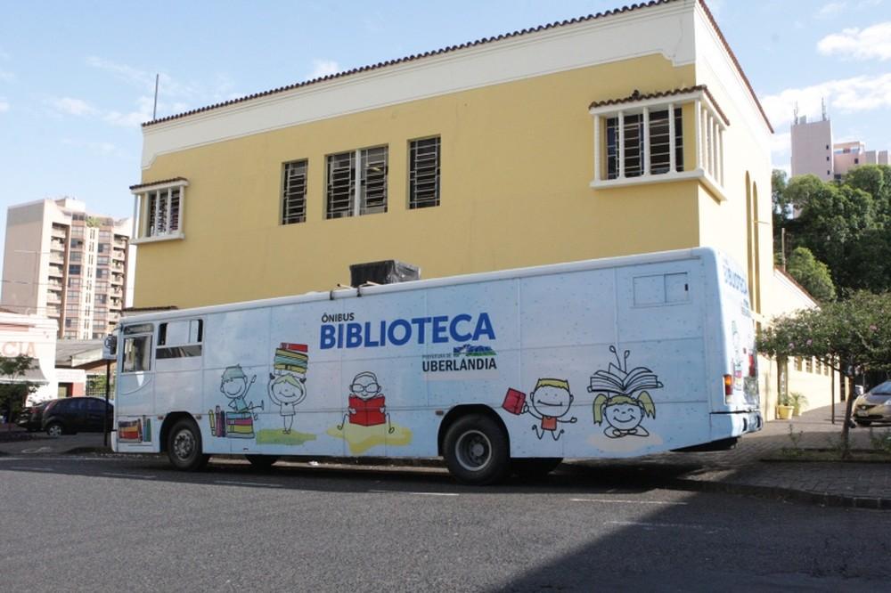 Veículo vai se instalar em bairros da cidade para disponibilizar livros de forma gratuita (Foto: Prefeitura de Uberlândia/Divulgação)